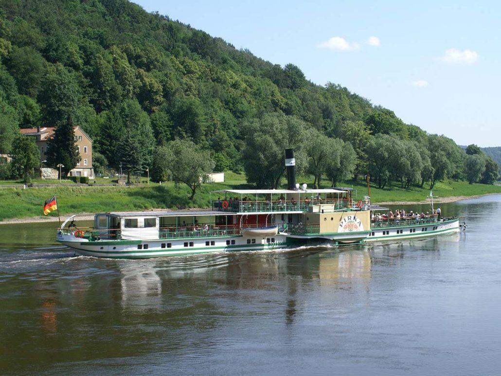 Saxon Paddle Steamer Fleet on the Elbe river