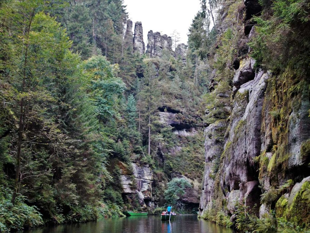 Canyons of Kamenice near Hrensko